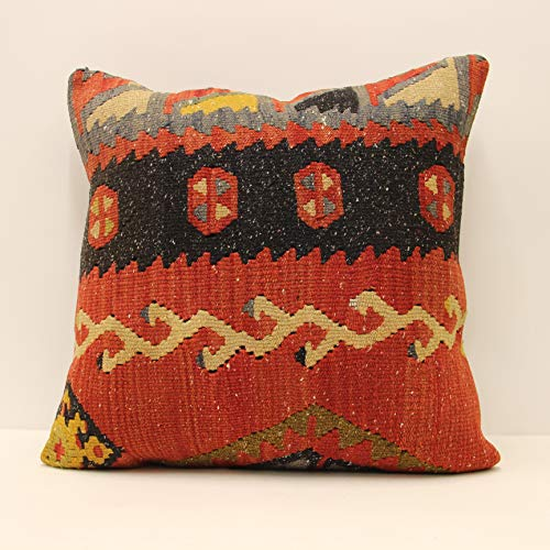 Turkish Kilim pillow 20x20 inch Minimalist Home&Kitchen Bedding Decorative Pillows Covers cushion boho pillow cover throw pillow accent rustic pillow
