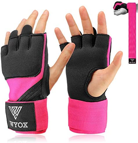 Details about  /Gel Gloves Punch Bag Hand Quick Wraps Boxing Padded Inner UFC Gear MMA Protector