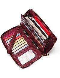 Women Wallet Large Leather Wristlet Clutch Card Holder Organizer Ladies Travel Purse