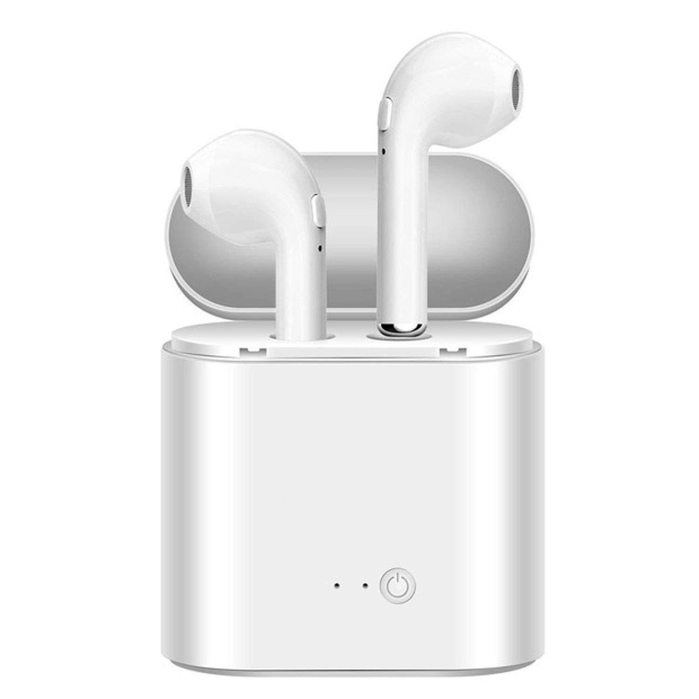 ワイヤレスイヤホン Bluetoothヘッドセット ヘッドホン トゥルーワイヤレスイヤホン ステレオスポーツイヤホン 充電機能付き (ホワイト)   B07QX8JL4T