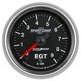 AutoMeter 3648-M Sport-Comp II Electric Oil Temperature Gauge 2-1/16 in. Black Dial Face