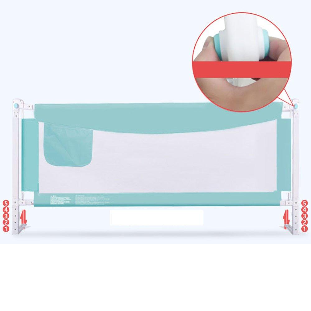 barandilla de Cama Valla de protección contra caídas para niños Valla para Cama Infantil Elevación Vertical Altura Inferior Ajustable (Color : Green, ...