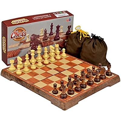 Portable Magnetic Chess Set, 10.6 x 9.25 Inches