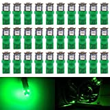 AMAZENAR 30-Pack Green Replacement Stock # 194 T10 168 2825 W5W 175 158 Bulb 5050 5 SMD LED Light ,12V Car Interior Lighting For Map Dome Lamp Trunk Dashboard Parking Lights - Best Value