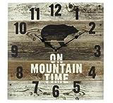 Wood Bear Wall Clock