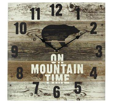 Wood Bear Wall Clock - Elk Rustic Clock