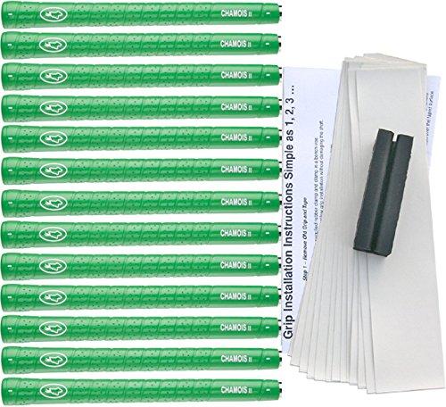 Avonセーム革II標準緑、テープ、クランプグリップゴルフグリップキット( 13 )   B00MRO5WEG