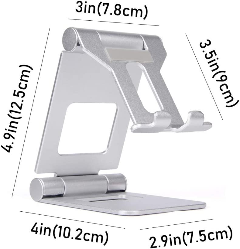 Mini Phone Holder for Bedside and Tabletop Stylish Metallic Look Compatible with Different Sizes of Mobile Phone Holders Color : Black SYAODU Portable Phone Holder