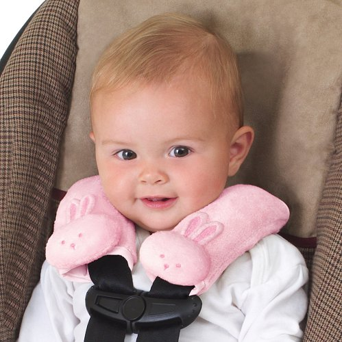 Kiddopotamus Cushystraps Super Soft Strap Covers, Pink Bunnies 15117