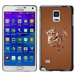 Stuss Case / Funda Carcasa protectora - Owl Guitar Music Love Bird Forest Flying - Samsung Galaxy Note 4 SM-N910