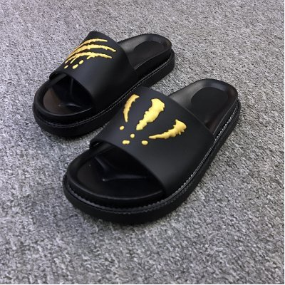 and Slip 37 Trend Inside Bathroom Home Men Outside Non Cool fankou The Slippers of Summer Gold Black Slippers Summer Thick wq7naR