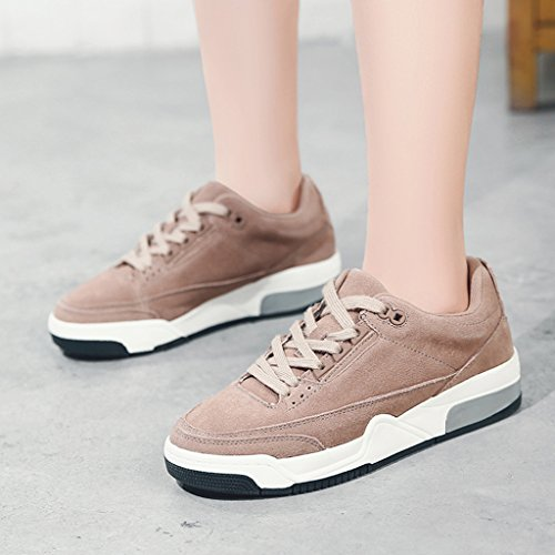 Retro Running Purple HWF sport Femmes Couleur Bottom 38 taille Blanc Taro de Épais Plate Chaussures Casual femme Chaussures Chaussures Printemps Hwr8HI