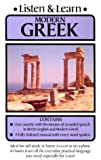 Listen and Learn Modern Greek, Listen and Learn Staff and Dover Staff, 0486999211