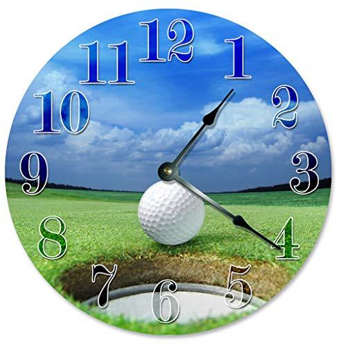 Sugar Vine Art Golf Ball Hole Unique Clock Large 10.5