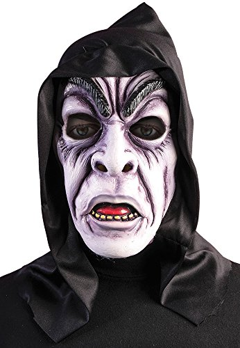 Bristol Novelty BM510 Hooded Zombie Ghoul Mask (One -