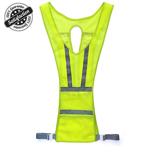 Higo Reflective Vest, Safety Light Running Gear Vest, Night Safety High Visibility Reflector with Pocket Adjustable, Lightweight, Weatherproof Gear For Jogging & Cycling