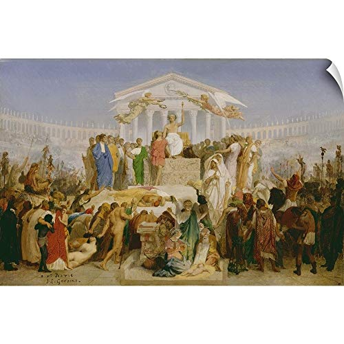 CANVAS ON DEMAND Jean Leon Gerome Wall Peel Wall Art Print Entitled Age of Augustus, The Birth of Christ, by Jean-Leon Gerome 18