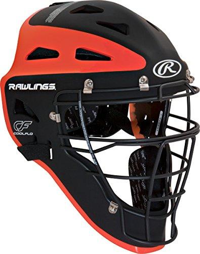 Rawlings Sporting Goods Youth Velo Series Catchers Helmet, Black/Orange, 6 1/2-7'' by Rawlings