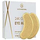 24K Gold Eye Masks - 45 Pairs - Under Eye Bags & Dark Circles Treatment - Feel Fresh & Revitalized.