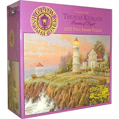 Thomas Kinkade Painter Of Light Victorian Light Glow In The Dark 1000 Piece Puzzle By Ceaco By Ceaco