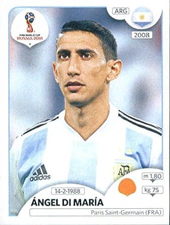 8ab4ad0b0 Amazon.com  2018 Panini World Cup Stickers Russia  283 Ã ngel Di Maria  Argentina Soccer Sticker  Collectibles   Fine Art