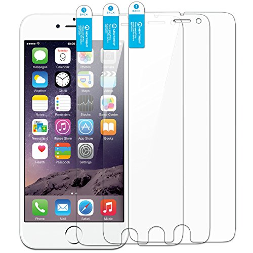 iPhone 6s Plus Screen Protector, New Trent Arcadia Thin Clear Transparent Screen Protector for Apple iPhone 6s Plus and Apple iPhone 6 Plus (5.5 Inch) (3-Pack)