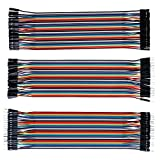 Multicolored Breadboard Dupont Jumper wires – ALLUS J7011 120Pcs 3in1 Ribbon Cables Kit, Male to Male (M/M), Female to Female (F/F), Male to Female (M/F) for Arduino and Raspberry Pi