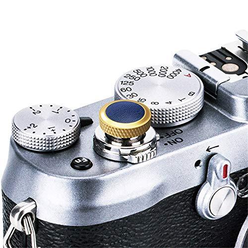 JJC Compatible Soft Shutter Release Button Cap for Fuji Fujifilm X-T3 XT3 X100F X-Pro2 X-Pro1 X-T2 X-E3 X-E2S X-T20 X-T10 X100T X100S X30 for Sony RX10 IV,RX10 III II,RX10,RX1R II,RX1 R,RX1 / G Blue