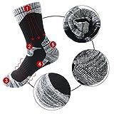 MAIBU 3 Pairs Ski Socks Warm Comfortable Cushioned Sport Socks for Running, Mountain, Snowboard