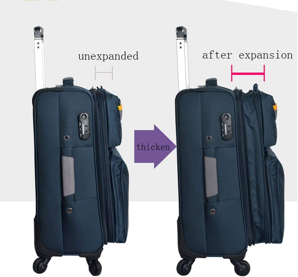 Expandable Spinner Trolley Case Fashion Luggage Suitcase 20 Inchs//24 Inches//28 Inches Universal Wheel Color : Blue, Size : 24 inch