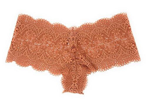 Victoria's Secret Crochet Lace Sexy Shortie Panty Sandy Brown Large