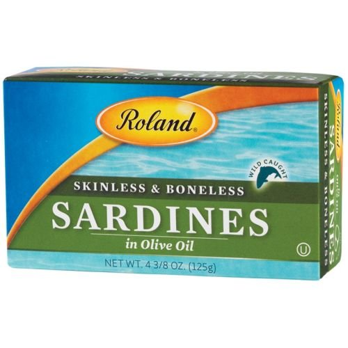Case Oil Olive (Roland Skinless and Boneless Sardines in Olive Oil, 4.38 Ounce - 10 per case.)