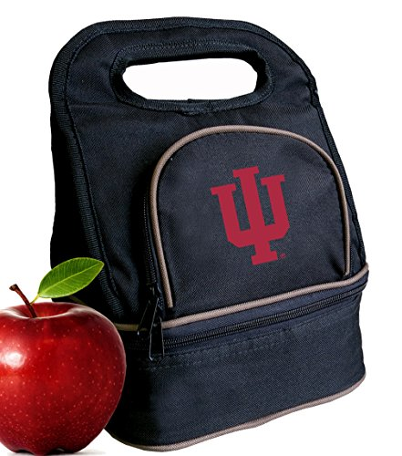 Hoosiers Lunch Indiana Box - Broad Bay Indiana University Lunch Bag IU Lunch Box - 2 Sections!