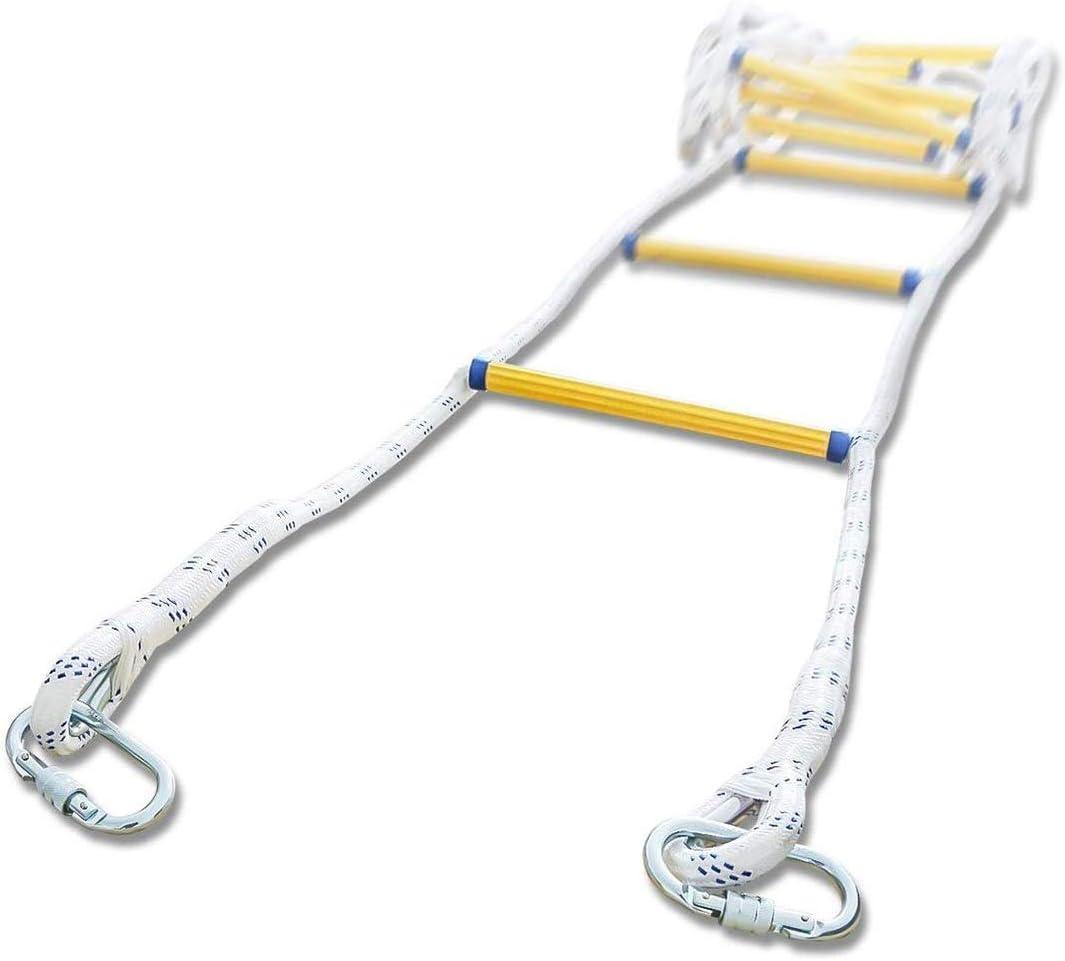 Trjyr Escaleras de Evacuación- 2-3 Historia reutilizable del rescate del fuego escape escalera de cuerda, resistente a la llama de seguridad contra incendios de emergencia de evacuación Escalera con C: Amazon.es: Hogar
