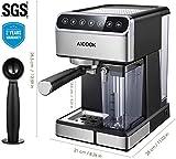 AICOOK 219 Coffee Maker, 15.3 x 13.4 x 10.5 inches, Black