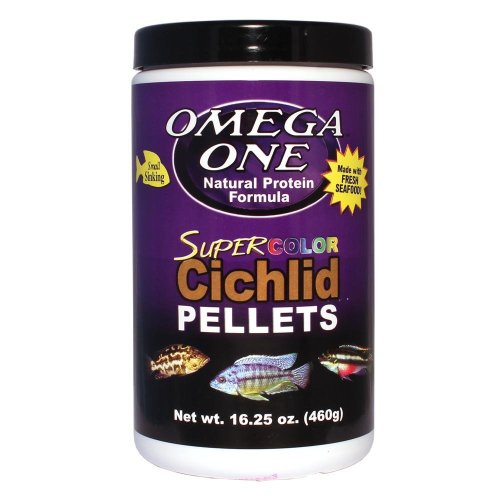 Omega One Super Color Cichlid Small Pellets 16.25oz ()