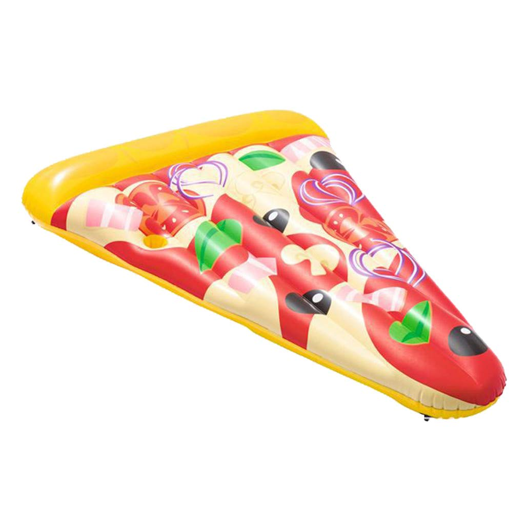SMyFone Pizza Seated Luxury Inflatable Floating Pool,Kids and Adult Swimming Inflatable Portable Pool Float Bed, Swimming Pool Inflatable Seat Summer Water Floating Toys