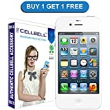 Cellbell Premium Apple Iphone 5 5s 5c Tempered Glass Screen Protector (Annual Limited Period Offer Buy1 :: Get 1 Free - Comes with Warranty) ...