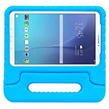 Galaxy Tab E 9.6 Case-SIMPLEWAY EVA Kids Shock Proof Convertible Handle Light Weight Cover for Samsung Galaxy Tab E / Tab E Nook 9.6 Inch 2015 Tablet (Fit Both WiFi and Verizon 4G LTE Version),Blue