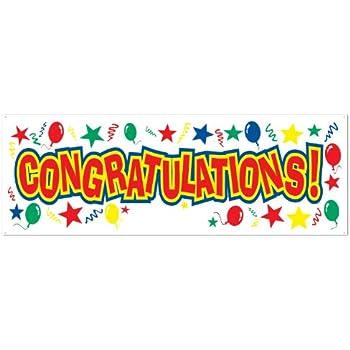 amazon com congrats banner congratulations sign graduation