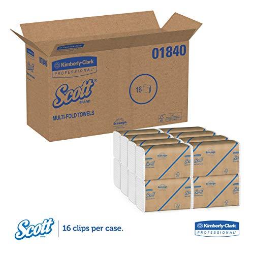 Scott 01840 Multi-Fold Towels, Absorbency Pockets, 9 1/5 x 9 2/5, 250 per Pack (Case of 16 Packs) by Scott (Image #4)