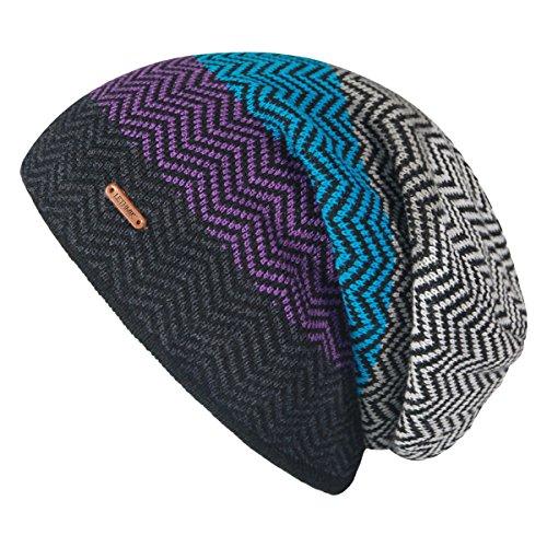 LETHMIK Winter Long Slouchy Beanie Unique Mix Knit Ski Cap Hat Skully for Men & Women