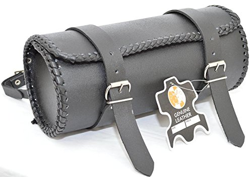 Motorcycle Motorbike Genuine Leather Tool Roll Saddle Bag TR1