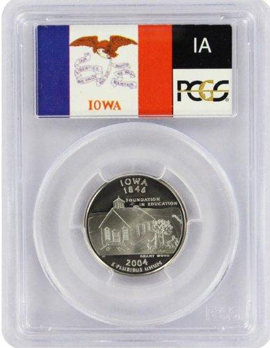 2004 Iowa State S Clad Proof Quarter PR-69 PCGS