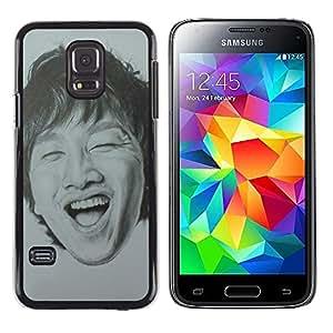 LECELL--Funda protectora / Cubierta / Piel For Samsung Galaxy S5 Mini, SM-G800, NOT S5 REGULAR! -- Portrait Man Laughing Teeth --