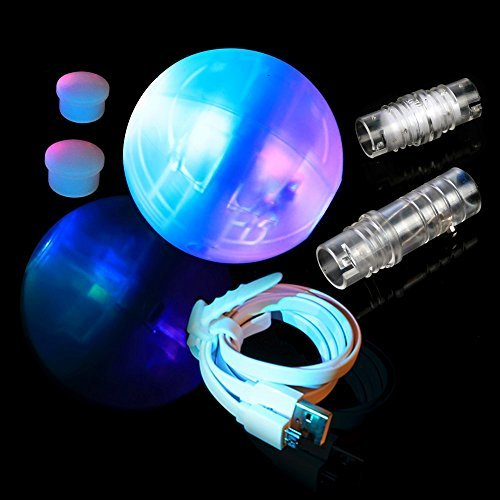 Led Juggling Ball with for Beginners\Professionals - The Night Circus Light Show - Turns to Poi, Staff, Flower Stick \ Modular Juggling - 2 Smart Programmable Brains by Speevres -