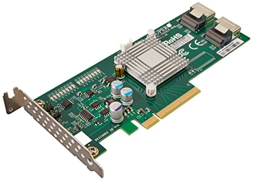 Supermicro AOC-SAS2LP-MV8 Add-on Card, 8-Channel SAS/SATA Adapter with 600MB/s per Channel ()