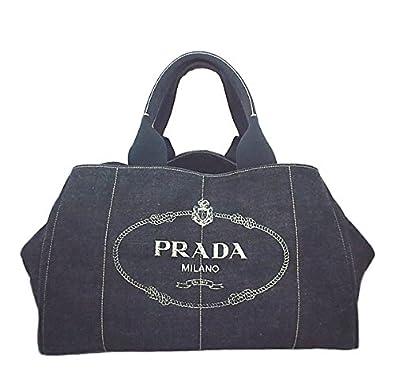 5d67f629b64a Amazon | PRADA(プラダ)カナパ デニム ストライプ トートバッグ【中古】 | PRADA(プラダ) | トートバッグ