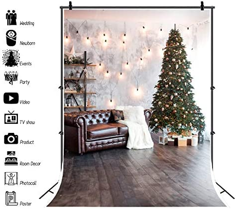 7x10 FT Winter Vinyl Photography Backdrop,Christmas Baubles Ornamental Details Festive Traditional Holiday Background for Party Home Decor Outdoorsy Theme Shoot Props