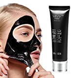 MIYAY Blackhead Peel Off Mask Black Mud Face Mask Purifying Black Peel Off Mask Tearing Resist Oily Skin Strawberry Nose